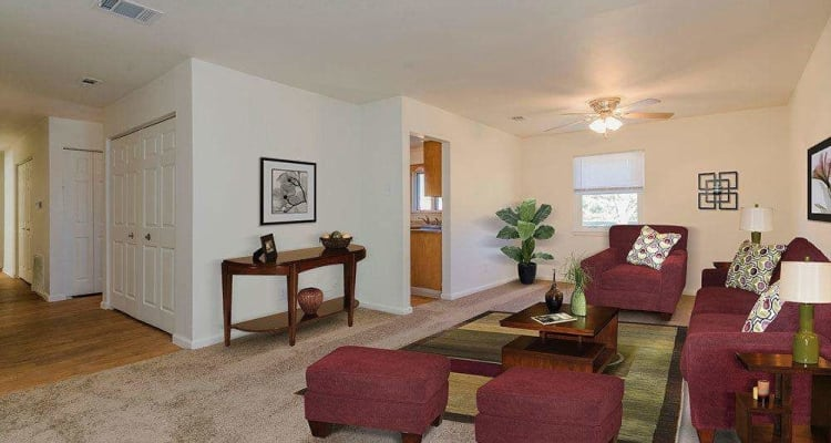 Spacious bedroom at Eagle Meadows Apartments