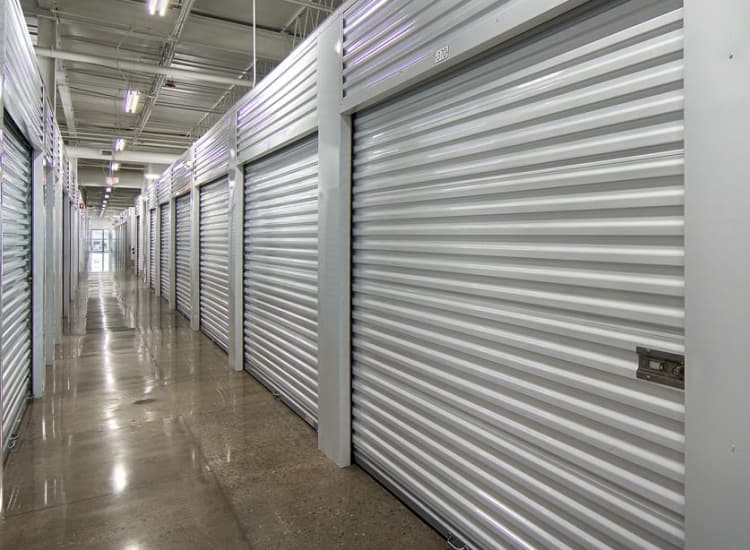 Indoor storage units at Metro Self Storage in Buffalo Grove, Illinois