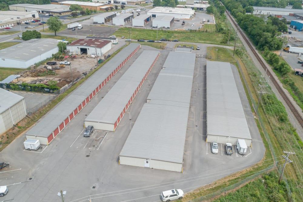 A birds-eye view of Apperson Self Storage 2 in Roanoke, Virginia