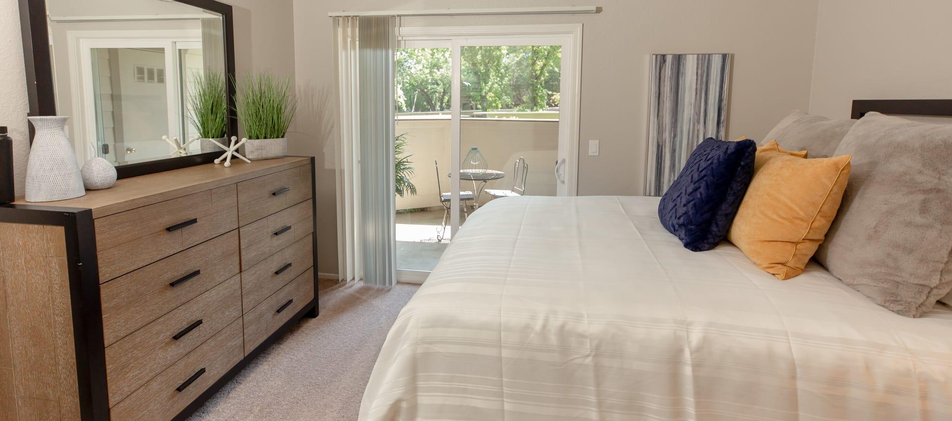 Bedroom at Shaliko in Rocklin, California.