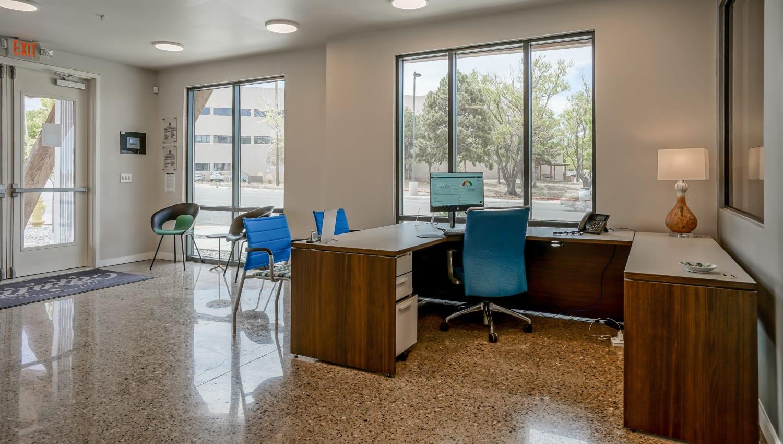 Front desk at Capitol Flats in Santa Fe, New Mexico