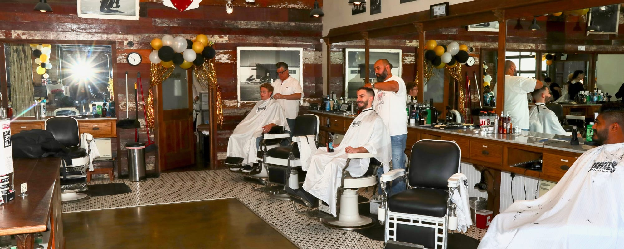 Barber shop near The Moran in Oakland, California
