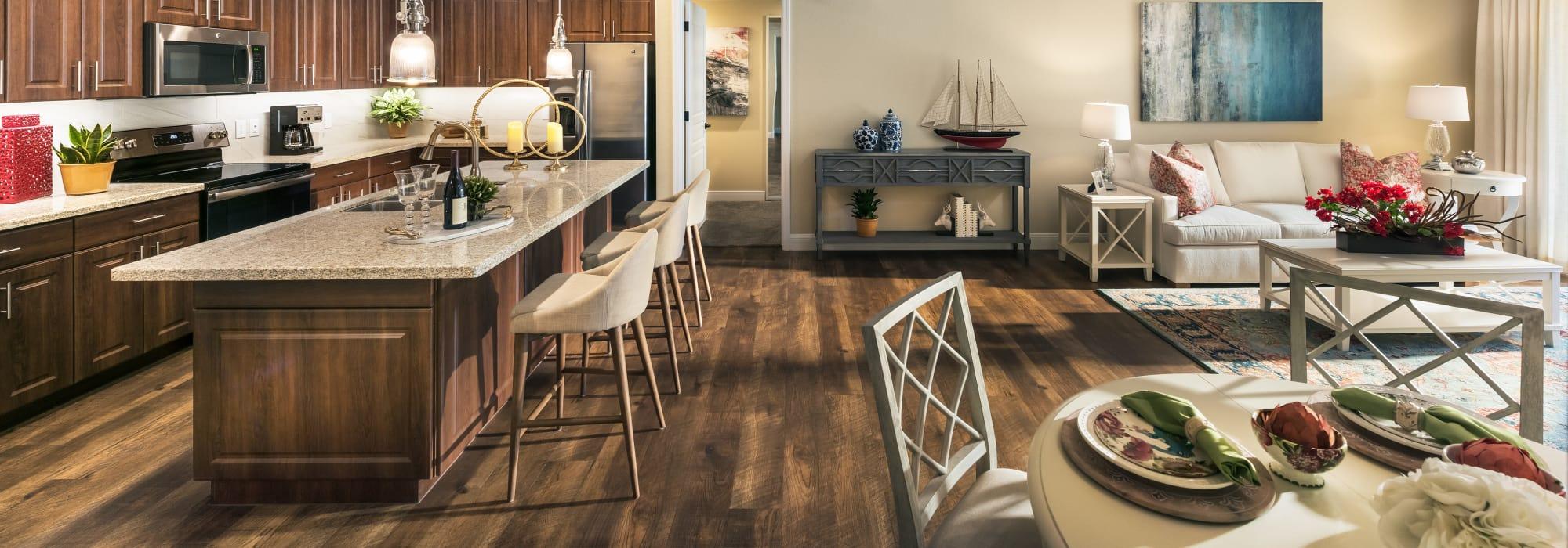 Luxury living area at San Portales in Scottsdale, Arizona