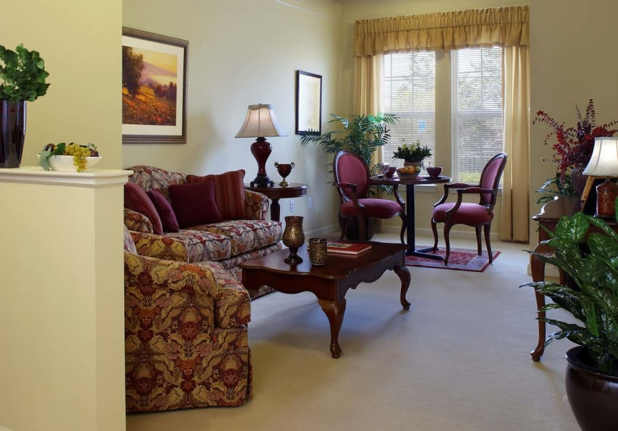 Living space at Waltonwood Main in Rochester Hills, MI
