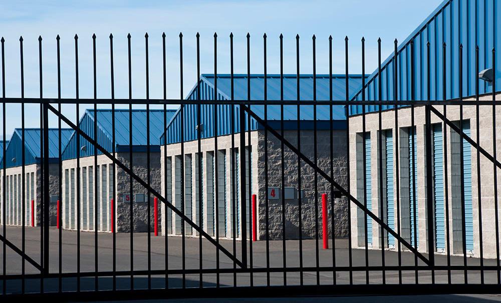 Security gate at Prime Storage in Glens Falls, New York