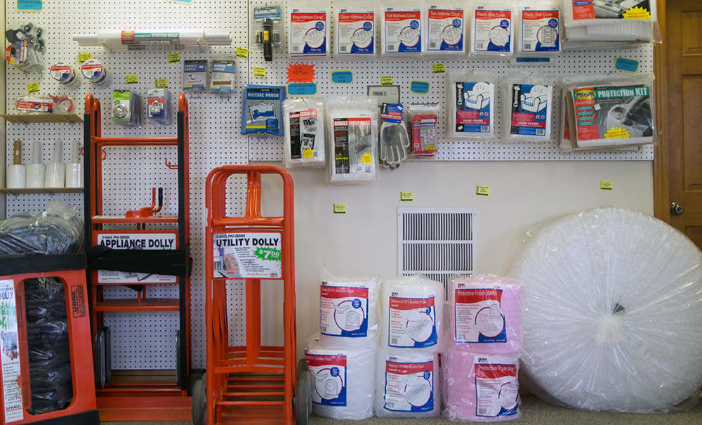 Packing supplies sold at Climatrol Self Storage in Williamsburg, Virginia