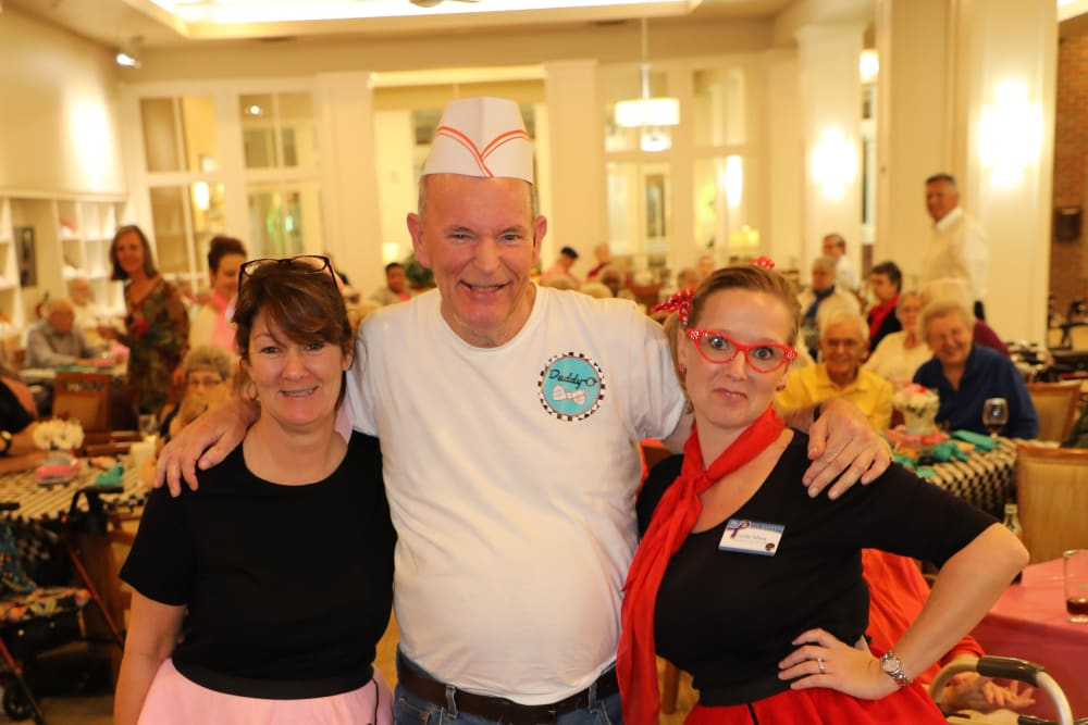 Sock Hop event at Merrill Gardens at Madison in Madison, Alabama.
