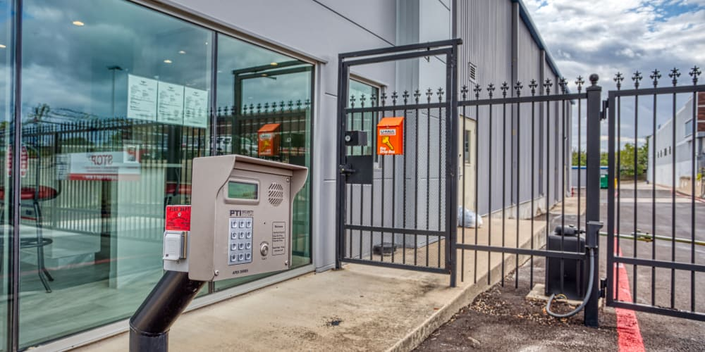 Keypad entry at Secure Storage in Murfreesboro, Tennessee