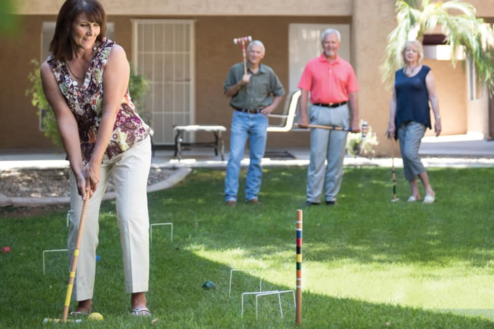 We offer different activities at Scottsdale Village Square, A Pacifica Senior Living Community