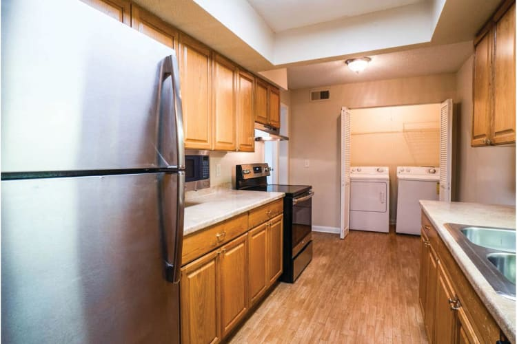 Model kitchen at Post Ridge Apartments in Nashville, Tennessee