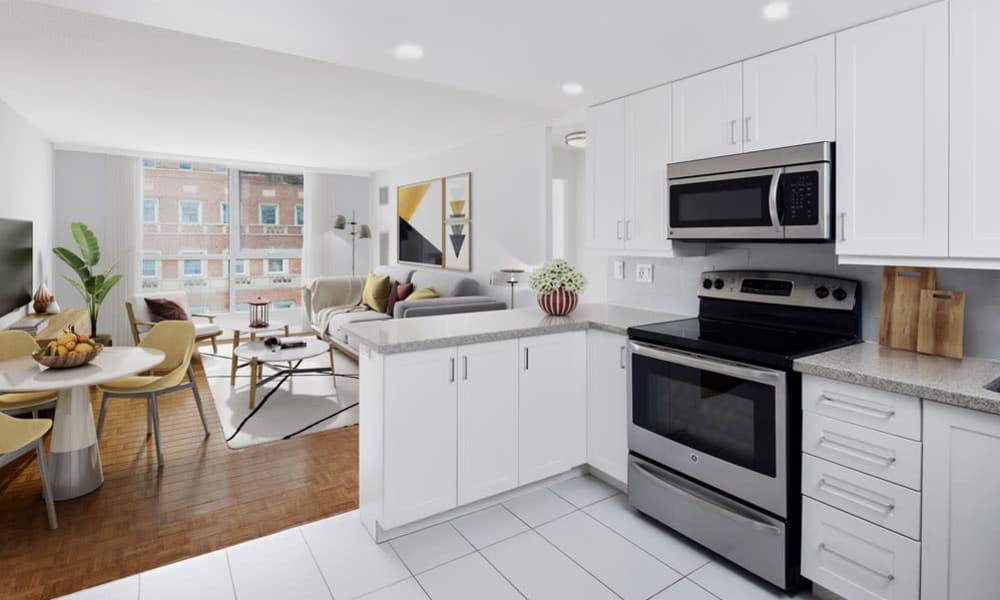 Beautiful kitchen at Residences on Bloor in Toronto, Ontario