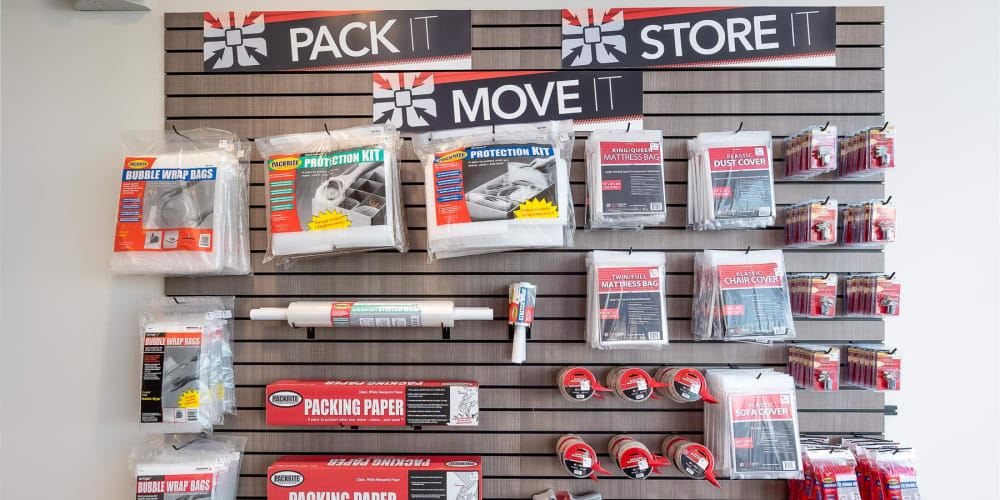 Packing supplies available at StorQuest Self Storage in Richmond, California