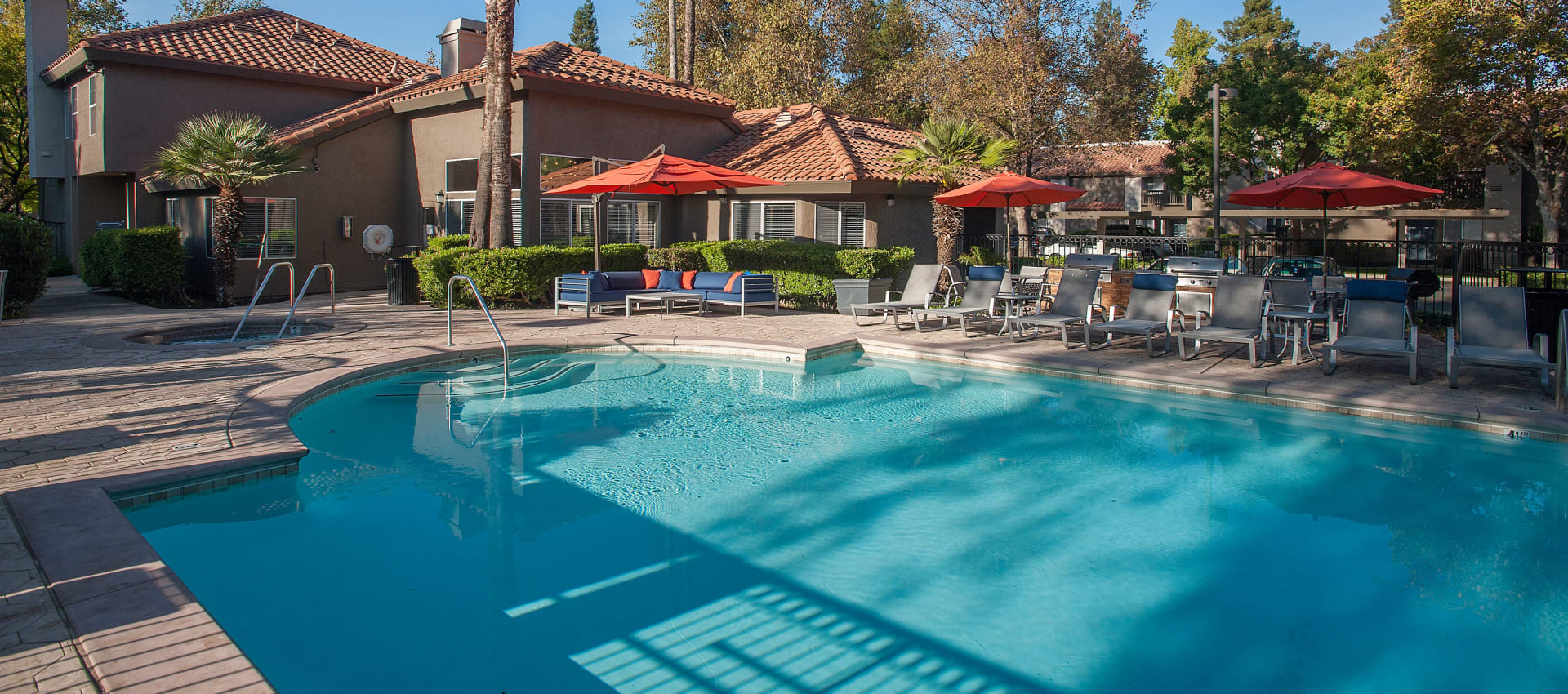 Resident swimming pool at Shore Park at Riverlake in Sacramento, California