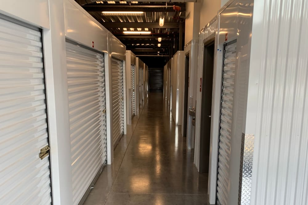 Interior units at Spacebox Storage in Lake Park, FL