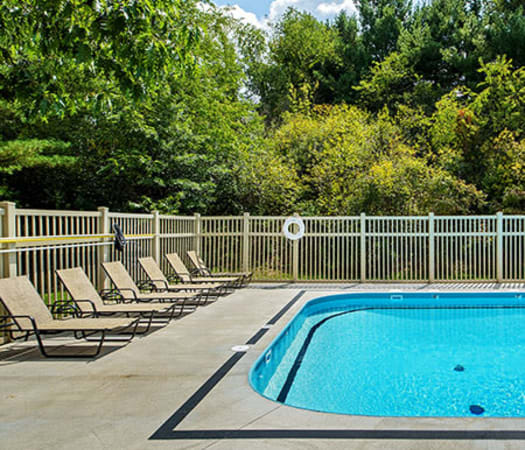 Swimming pool at Nineteen North Apartments in Pittsburgh, Pennsylvania
