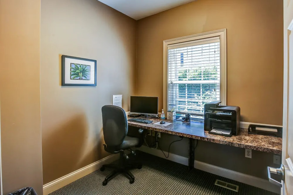 A computer workstation to help make working from home easier.