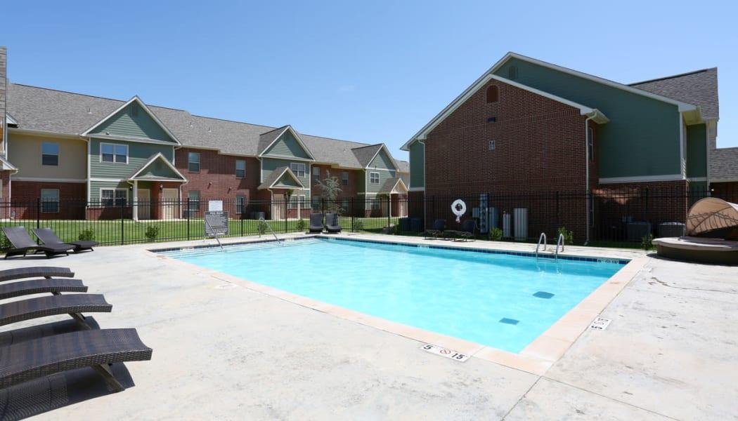 The pool at Cross Timber in Oklahoma City, Oklahoma