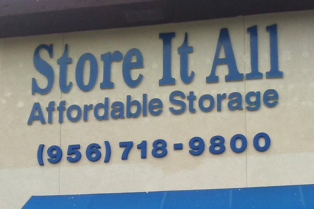 Signage at Store It All Self Storage - Affordable in Laredo, TX