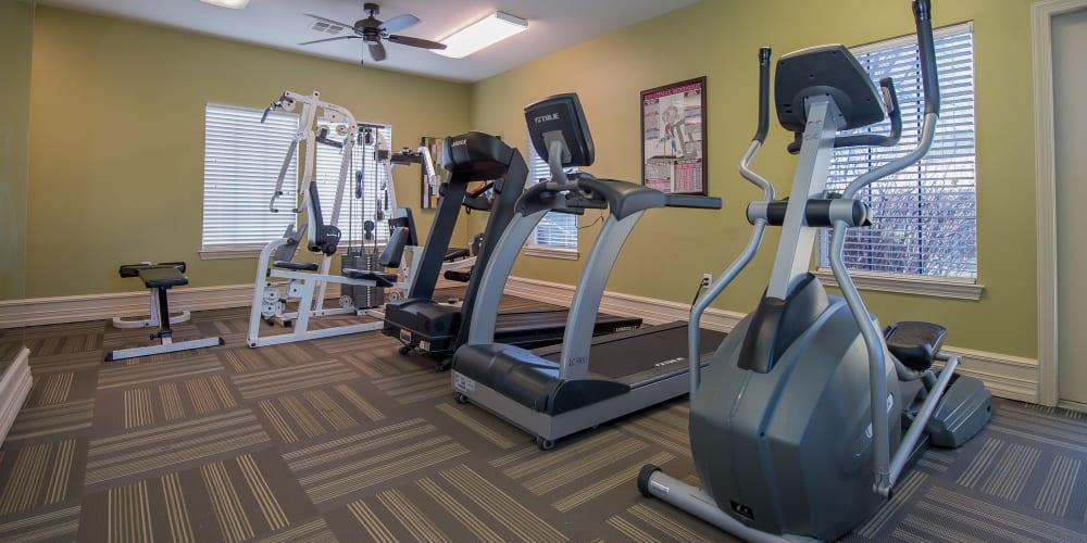 Fully equipped fitness center at Newport Wichita in Wichita, Kansas