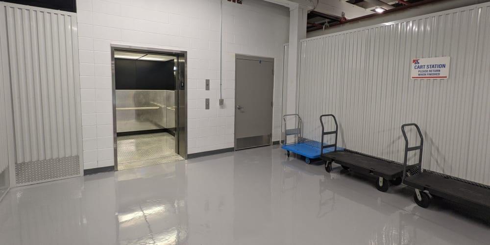Elevators and Rolling carts at Devon Self Storage