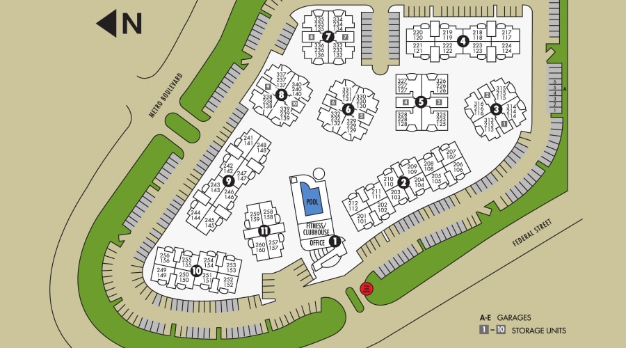 Club Cancun site plan