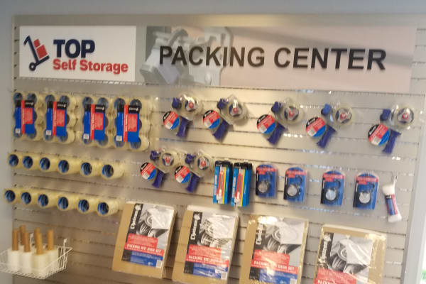 Packing supplies available at Top Self Storage - North Lauderdale