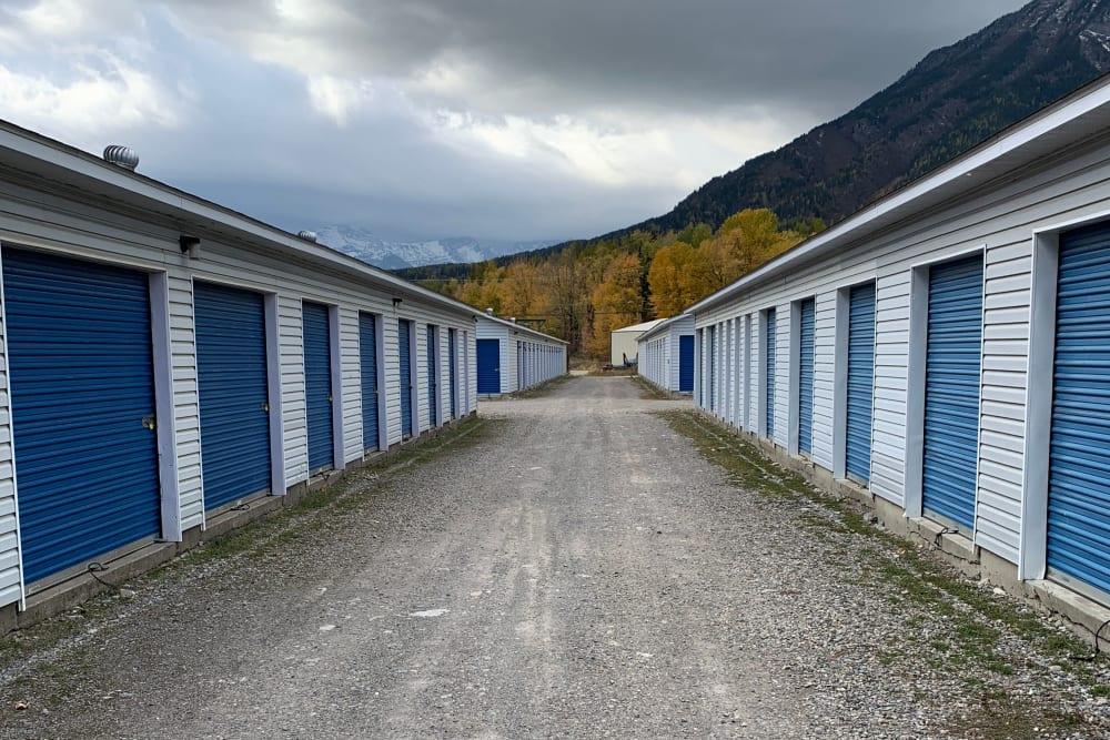 CityBox Storage features exterior storage units in Fernie, British Columbia