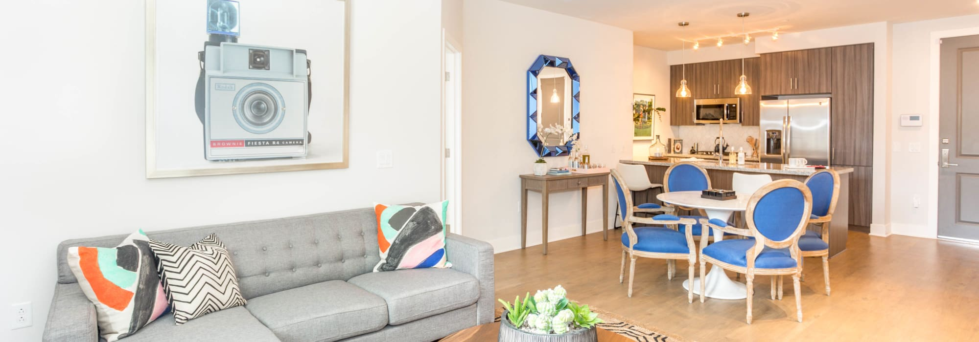 Luxury living room at Lakeside Drive Apartments in Tempe, Arizona