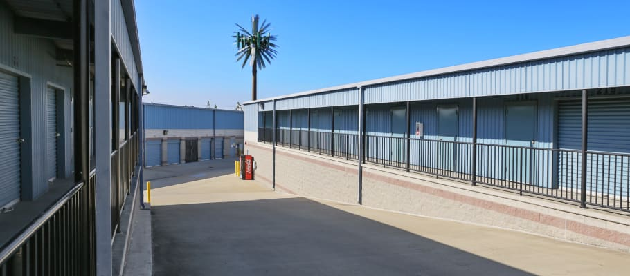 Outdoor storage units in Anaheim, California at A-1 Self Storage