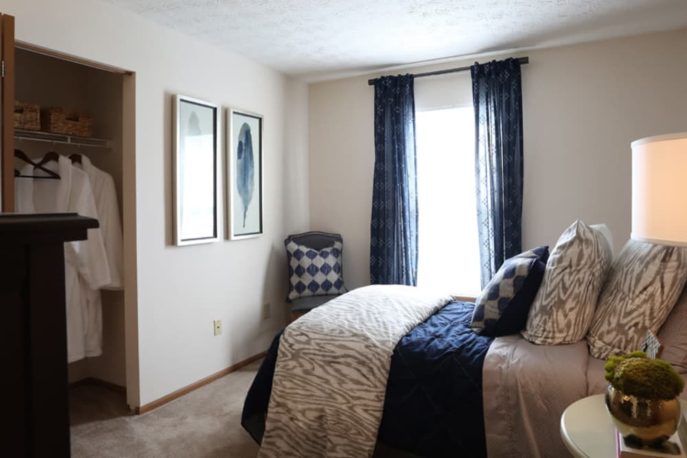 Enclave at Albany Park offers a naturally well-lit bedroom in Westerville, Ohio