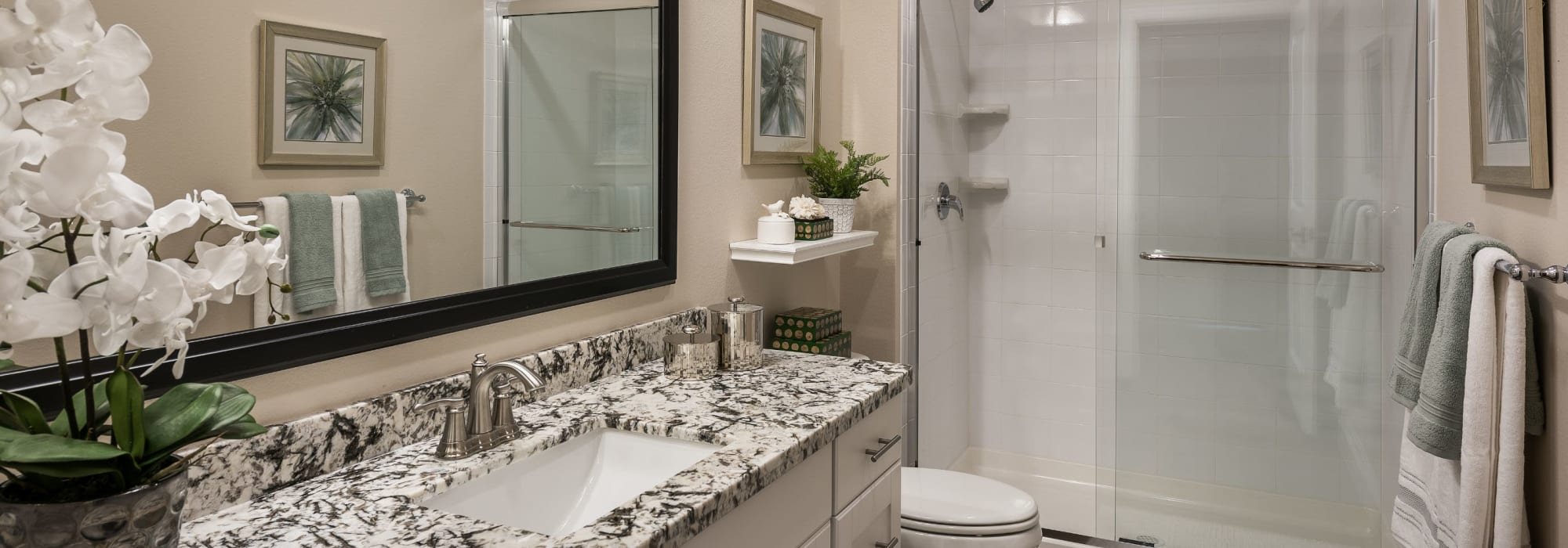 Bright bathroom at San Artes in Scottsdale, Arizona