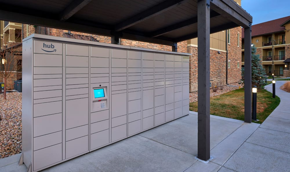 Package Lockers of M2 Apartments in Denver, CO