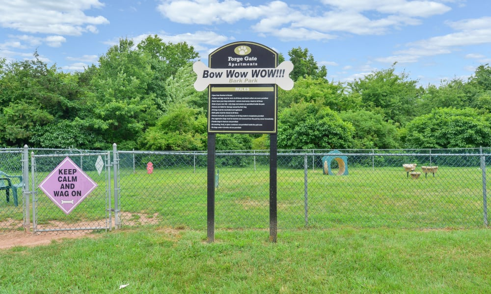 Dog park at Forge Gate Apartment Homes
