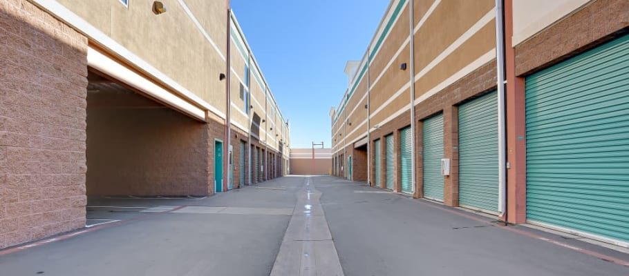 Drive-up storage at A-1 Self Storage in Bell Gardens, California