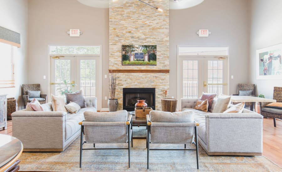 Well-decorated common area of at Westgate Apartments & Townhomes in Manassas, Virginia