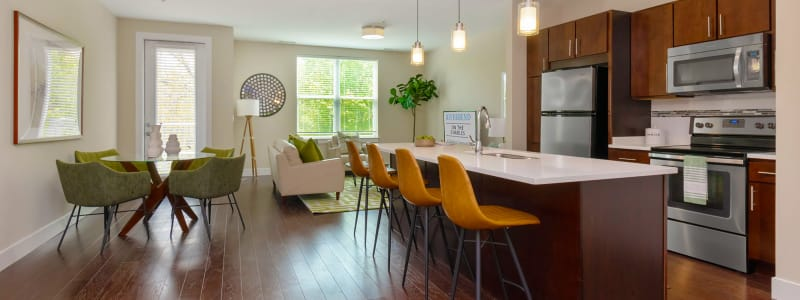 Beautiful open floor plans at Riverbend on the Charles in Watertown, Massachusetts