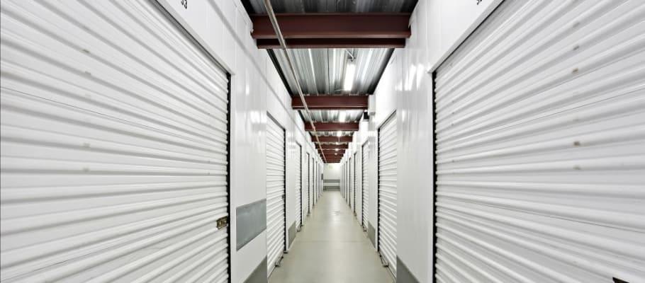 Clean hallways and interior storage units at A-1 Self Storage in Chula Vista, California