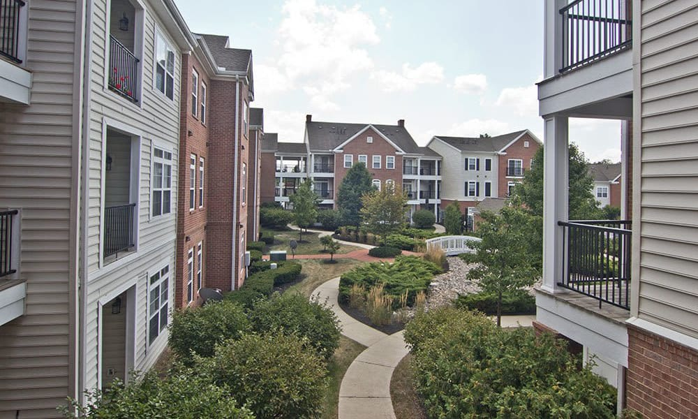 Beautiful apartments building at Chelsea Place in Toledo, OH