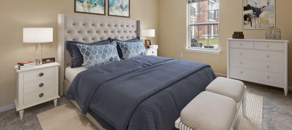 senior apartment bedroom in Novi, MI