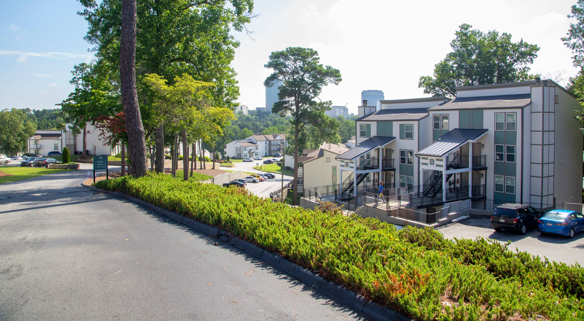 driveway and parking outside a building at Castlegate Property Group in Atlanta, GA