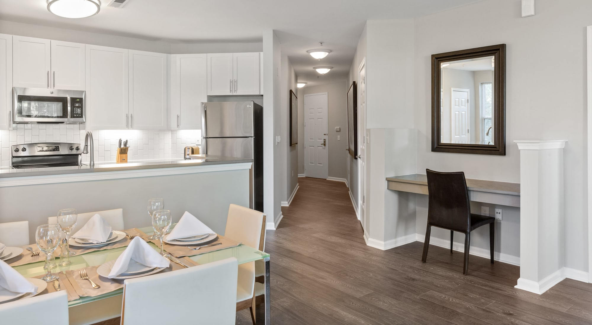 Beautiful open-concept floor plan at The Lena Luxury Residences in Raritan, New Jersey