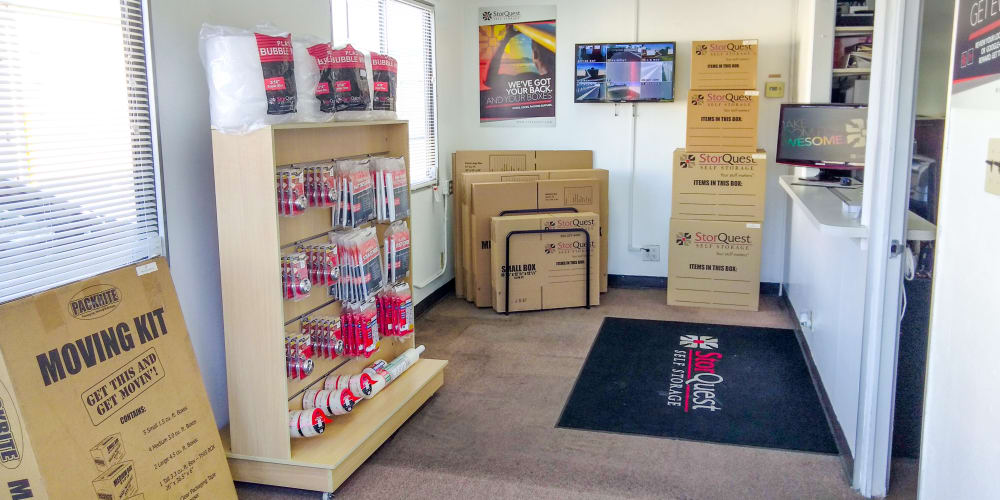 Packing supplies available at StorQuest Self Storage in Lakewood, California