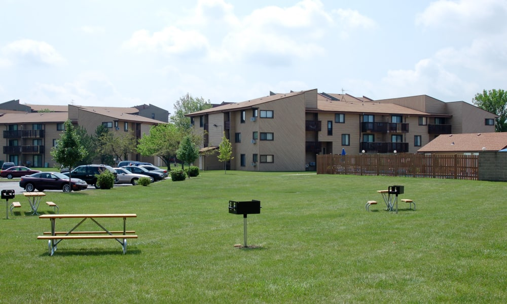 Bbq area at Cedar Ridge in Richton Park, Illinois