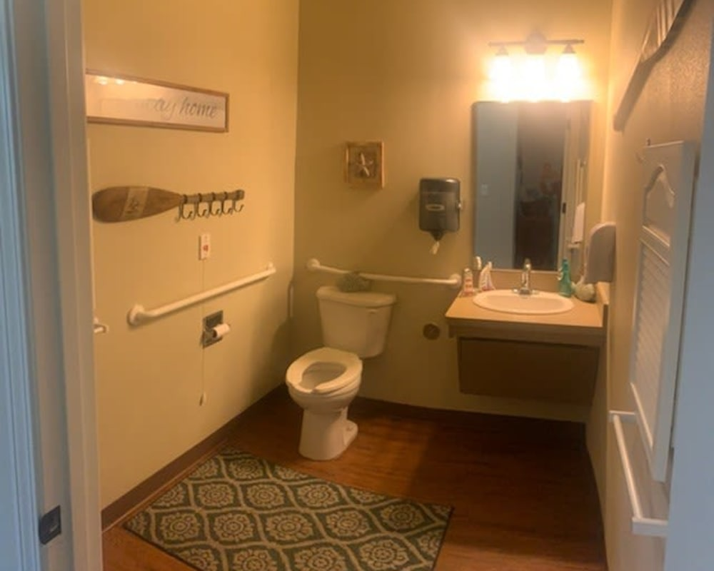 Bathroom at Creekside Alzheimer's Special Care Center in Pearland, Texas