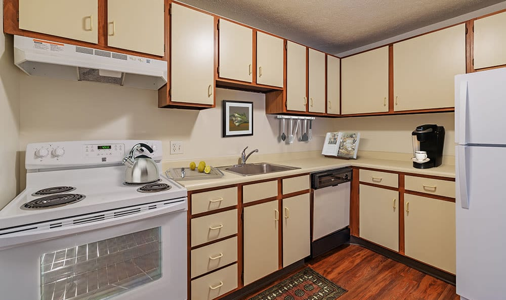 Beautiful kitchen at apartments in Pittsburgh, Pennsylvania