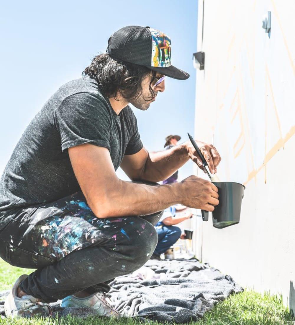 Urban artist at StorQuest Self Storage in Santa Monica, CA