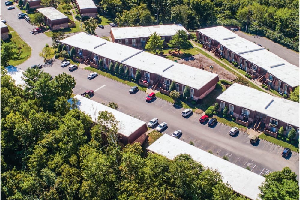 Aerial view of at Post Ridge Apartments in Nashville, Tennessee