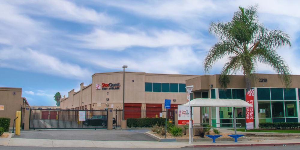 Street view of StorQuest Self Storage in Long Beach, California