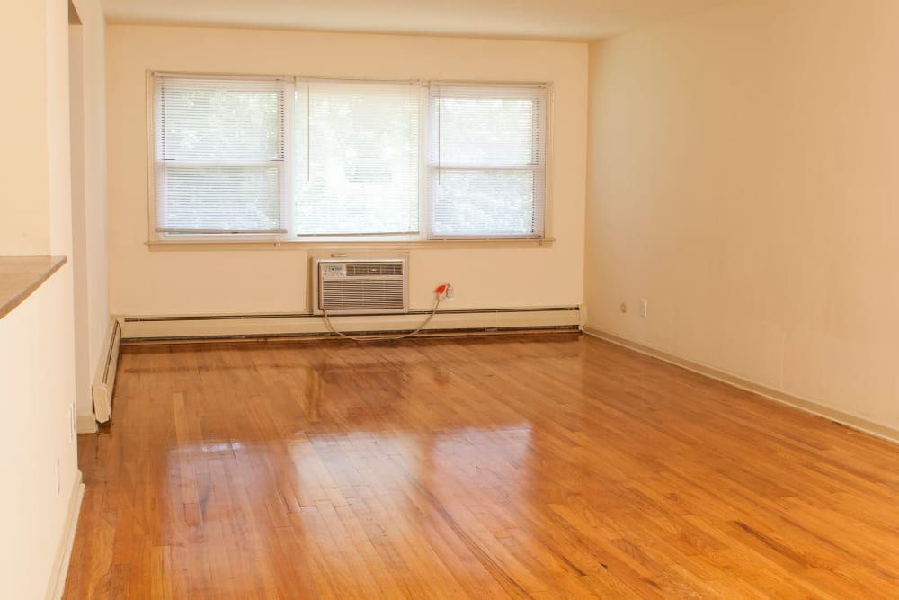 Large living room at Villager Apartments in Irvington, New Jersey