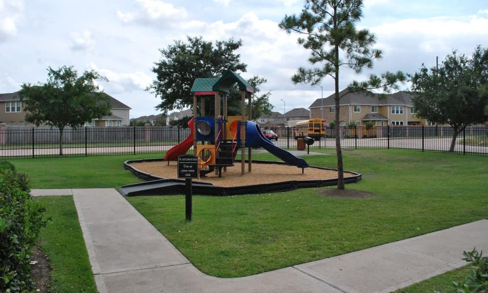 Parkland at West Oaks offers a beautiful playground in Houston, Texas